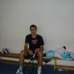 Bogdan Borza, s-a pregătit astăzi câteva ore la Cugir, înaintea unui turneu de tenis care se va desfășura în Germania