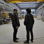 Adrian Teban, primarul Cugirului, în vizită de evaluare a stadiului lucrărilor la Tecno Plast