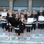 """Locul I pentru """"Panterele Negre"""" din Cugir la Festivalul Internaţional de Gimnastică şi Dans """"Prietenia"""" de la Vaslui"""