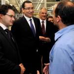 Premierul Victor Ponta s-a întâlnit la Stuttgart cu muncitorii cugireni aflați la specializare în Germania
