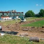 Instalaţie automată de irigat terenul de fotbal  din Cugir