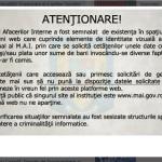 Site-ul Ministerului de Interne a fost clonat