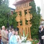 """La Biserica ,,Adormirea Maicii Domnului'' din Cugir au fost sfințite două troiţe cu prilejul prăzmuirii marii sărbători """"Înălţarea Sfintei Cruci"""""""