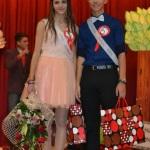 Câștigătorii titlurilor de Miss şi Mister Boboc 2014 ai Colegiului Naţional ,,David Prodan'' din Cugir sunt Denisa Homone şi Radu Stoian