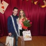"""Miss și Mister 2015 la """"Balul Îndrăgostiților'' organizat de elevii Colegiului Tehnic """"I.D. Lăzărescu"""" din Cugir sunt Ponivescu Georgiana și Eduard Miclăuș"""