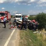 Patru persoane au fost rănite în urma unui accident rutier petrecut pe DN7, la Șibot