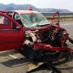 Accident rutier soldat cu două victime pe Autostrada A1, în apropierea nodului rutier de la Şoimuş