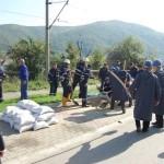 Exercițiu pentru situații de urgență generate de un accident la Barajul Canciu din Cugir