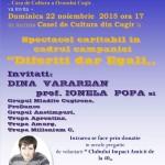 Duminică, 22 noiembrie: Spectacol umanitar pentru copiii cu nevoie speciale din Cugir