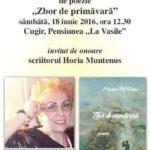 """Sâmbătă, 18 iunie 2016: Maria Trif Deac își lanseaza la Cugir volumul de versuri """"Zbor de primăvară"""""""