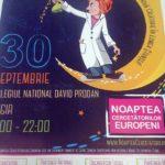 """Vineri, 30 septembrie 2016, Colegiul Național """"David Prodan"""" din Cugir va fi gazda evenimentului """"Noaptea cercetătorilor europeni"""""""