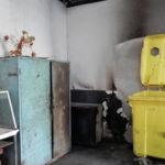 """Incendiu izbucnit într-un container, amplasat în incinta Pieței """"Complex"""" din Cugir, în care s-ar fi arcuncat cărbuni încinși"""
