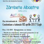 """Duminică, 2 aprilie 2017, la Cugir va fi marcată """"Ziua Internațională a Autismului"""""""
