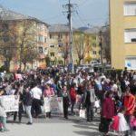 """Peste 200 de persoane au participat la """"Marșul pentru viață"""" organizat de Parohia Ortodoxă Cugir VI"""