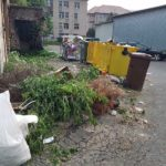 Mormanele de gunoaie neridicate și mizeria care domnește într-o zonă centrală a orașului Cugir dau mari bătăi de cap locuitorilor din zonă