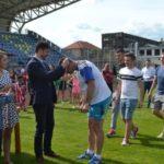 """Festivitate de premiere organizată de AJF Alba, pentru laureatele din judeţ, pe Arena """"CSO"""" din Cugir"""