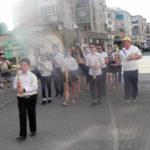 """Concert de fanfară și defilare pe străzile din Cugir, la finalul Taberei de vară desfășurate în """"Poiana cu Goruni"""" din Vinerea"""