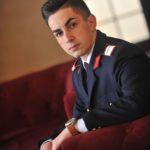 """Cugireanul Gabriel Noja, student al secției """"Arme și Muniții"""" din cadrul Academiei Tehnice Militare, din București"""