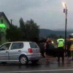 Șoferiță de 27 de ani din Șibot transportată la spital cu fractură de mandibulă, după ce a provocat un accident de circulație pe DN1, în județul Sibiu
