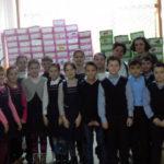 """Acțiune organizată de elevii Școlii Gimnaziale Nr. 3 din Cugir în cadrul proiectului caritabil """"ShoeBox"""" (Cutia de pantofi) – 2017"""