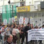 """Cadre didactice, părinți și elevi din Cugir au organizat astăzi un marș pentru păstrarea a trei clase la Colegiul Național """"David Prodan"""""""