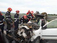 Patru persoane decedate și trei rănite, în urma unui accident rutier provocat de un șofer care rula pe contrasens pe Autostrada A1, între Simeria și Deva
