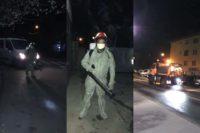 În cursul serii trecute a continuat procesul de dezinfecție a străzilor, trotuarelor, parcurilor și locurilor de joacă din Cugir