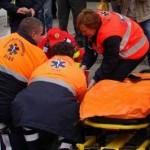 Două fetițe accidentate de un autoturism pe strada 1 Decembrie din Cugir
